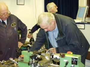 A Student tries flanging